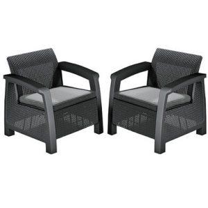 Набор мебели Keter Bahamas Duo Set (графит)