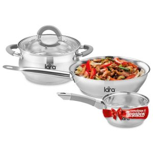 Набор посуды LARA Bell LR02-110 + сотейник