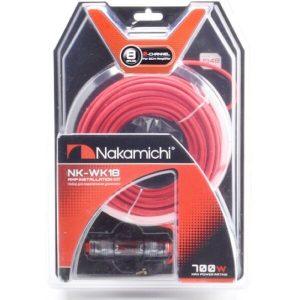 Набор проводов для подключения 2-канального усилителя 8Ga NAKAMICHI NK-WK18