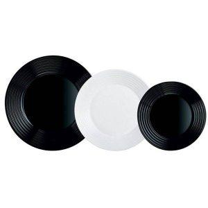 Набор столовый 18 предметов LUMINARC Harena (10N1518) черный/белый