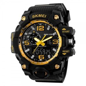 Наручные часы Skmei 1155 (черно-золотой)