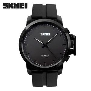 Наручные часы Skmei 1208 (черный силиконовый ремешок)