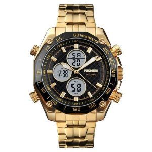 Наручные часы Skmei 1302 (золотистый/черный)