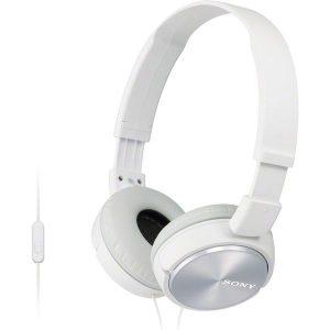 Наушники с микрофоном Sony MDR-ZX310AP (Белые)