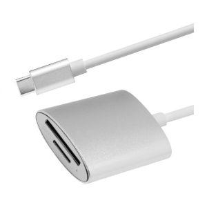 Переходник ATOM USB Type-C 3.1 - Micro SD/TF (серебристый)