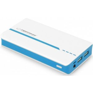 Портативное зарядное устройство ESPERANZA Atom 11000mAh white/blue (EMP107WB)