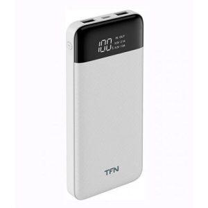 Портативное зарядное устройство TFN Slim Duo LCD 10000mAh (белый)