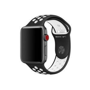 Ремешок Apple Nike 44 мм (черный/ белый)