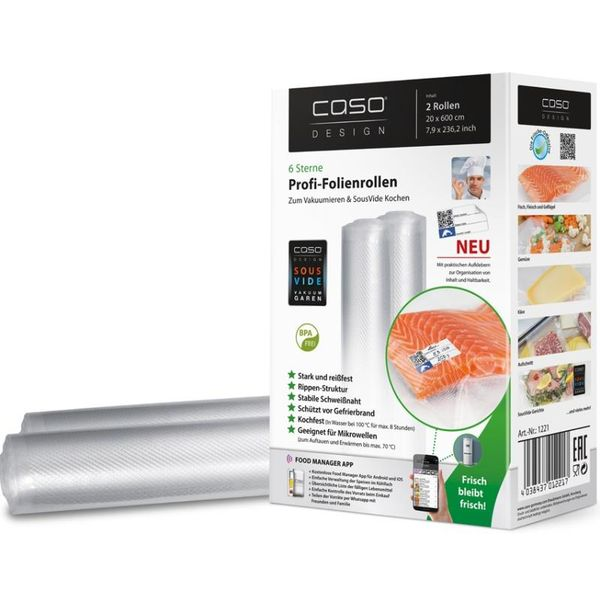 Рулоны для вакуумной упаковки CASO VC 20 х 600 см