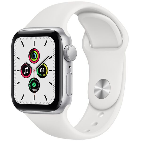 Смарт-часы APPLE Watch SE Silver Aluminium Case with White Sport Band 40mm (MYDM2UL/A)