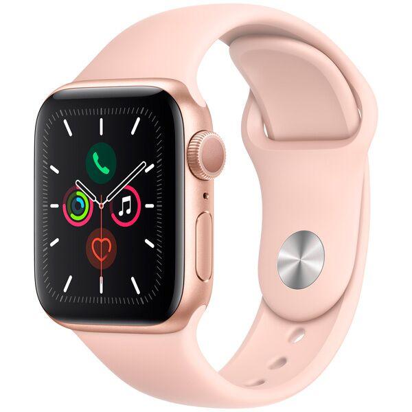 Смарт-часы APPLE Watch Series 5 Gold Aluminium Case with Pink Sand Sport Band 40mm (MWV72GK/A)