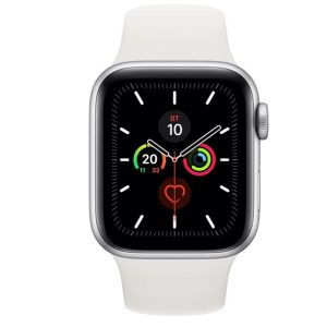 Смарт-часы APPLE Watch Series 5 Silver Aluminium Case with White Sport Band 40mm (MWV62UL/A)