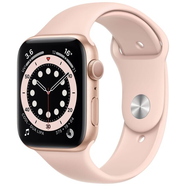 Смарт-часы APPLE Watch Series 6 Gold Aluminium Case with Pink Sand Sport Band 44mm (M00E3UL/A)