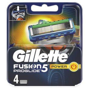 Сменные кассеты GILLETTE Fusion5 Proglide Power 4шт (7702018085576)