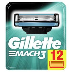 Сменные кассеты GILLETTE Mach3 12шт (3014260323240)