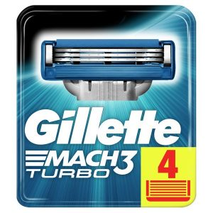 Сменные кассеты GILLETTE Mach3 Turbo 4шт (3014260331306)