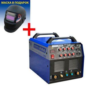Сварочный инвертор AuroraPRO Inter TIG 200 AC/DC Pulse + Маска A998F BLACK COSMO