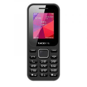 Телефон GSM Texet TM-122 (черный)