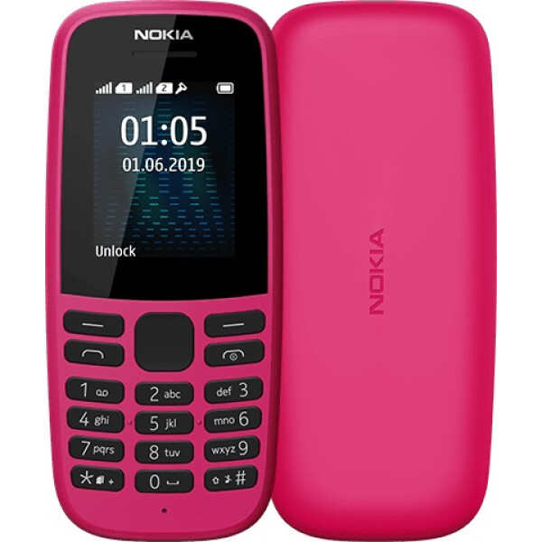 Телефон Nokia 105 розовый (TA-1174)