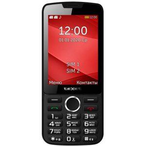 Телефон TEXET TM-308 (черный/красный)