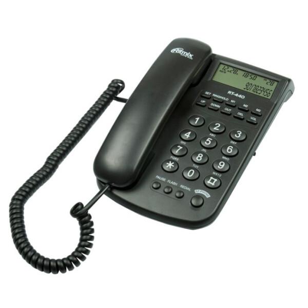 Телефонный аппарат Ritmix RT-440 (черный)
