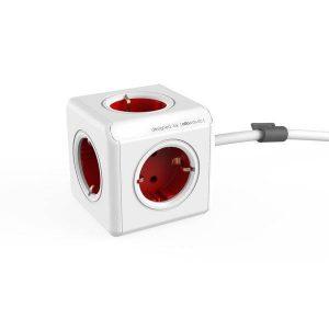 Удлинитель ALLOCACOC PowerCube Extended 1300RD/DEEXPC (красный)