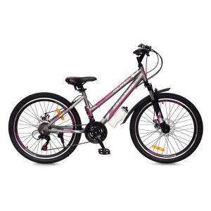 Велосипед Greenway Colibri-H 24 (серый/розовый)