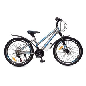 Велосипед Greenway Colibri-H 24 (серый/синий)