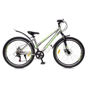 Велосипед Greenway Colibri-H 27.5 (серый/зеленый)