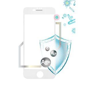 Защитное стекло VOLARE ROSSO Fullscreen full glue antibacterial для Apple iPhone SE/8/7 Белый (15596)