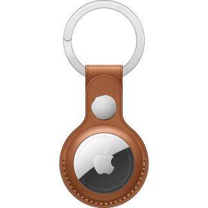 Брелок-подвеска для Apple AirTag Leather Key Ring Saddle Brown (MX4M2ZM/A)