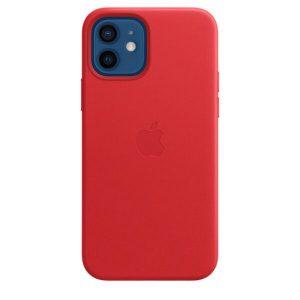 Чехол Apple MagSafe Leather Case для iPhone 12/12 Pro (красный) MHKD3ZM/A