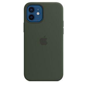 Чехол Apple MagSafe Silicone Case для iPhone 12/12 Pro (кипрский зеленый) MHL33ZE/A