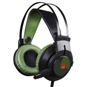 Гарнитура A4TECH BLOODY J450 черный/зеленый