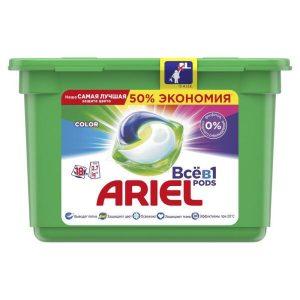 Капсулы для стирки Ariel Color 18 шт Х 23.8 г