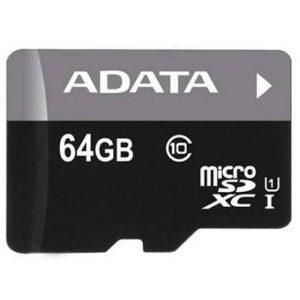 Карта памяти SDXC-micro 64GB ADATA AUSDX64GUICL10-RA1