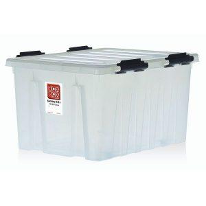 Контейнер на роликах универсальный с крышкой ROX BOX  120 л прозрачный