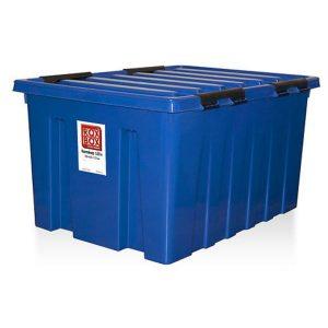 Контейнер на роликах универсальный с крышкой ROX BOX  120 л синий