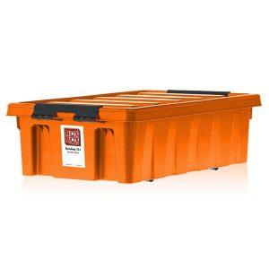 Контейнер на роликах универсальный с крышкой ROX BOX  35 л оранжевый