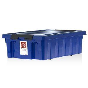 Контейнер на роликах универсальный с крышкой ROX BOX  35 л синий