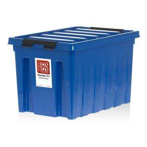 Контейнер на роликах универсальный с крышкой ROX BOX  70 л синий