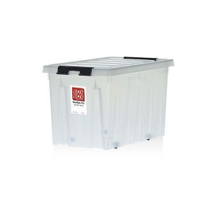 Контейнер Rox Box на роликах универсальный с крышкой 70 л прозрачный