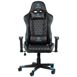 Кресло компьютерное Evolution Tactic 1 (черный/голубой)
