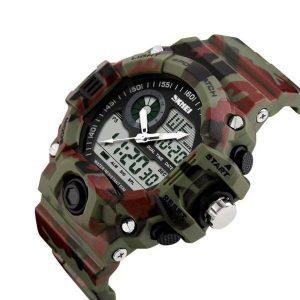 Наручные часы Skmei 1029 (зеленый камуфляж)