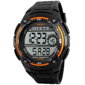 Наручные часы Skmei 1203 (черный/оранжевый)