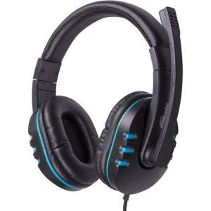 Наушники Ritmix RH-555M (черный/синий)