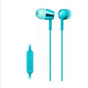 Наушники с микрофоном Sony MDR-EX155AP (Голубые)