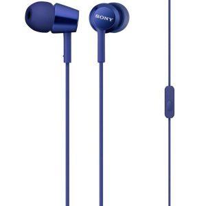 Наушники с микрофоном Sony MDR-EX155AP (Синие)
