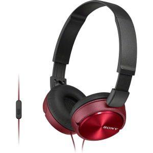 Наушники с микрофоном Sony MDR-ZX310AP (Красные)