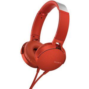 Наушники Sony MDR-XB550APR (красный)